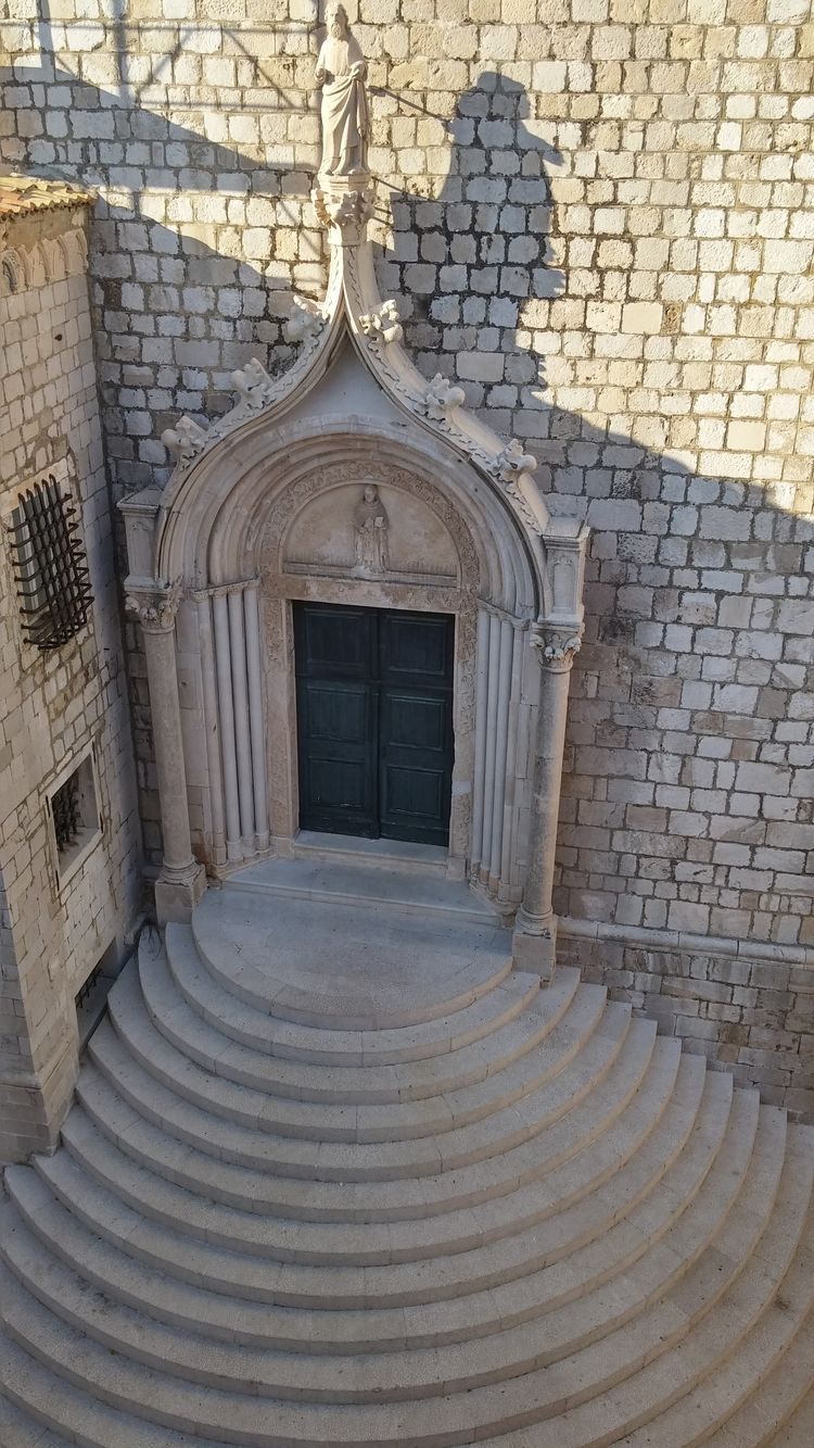 dubrovnik escalier baroque vieille ville - croatie