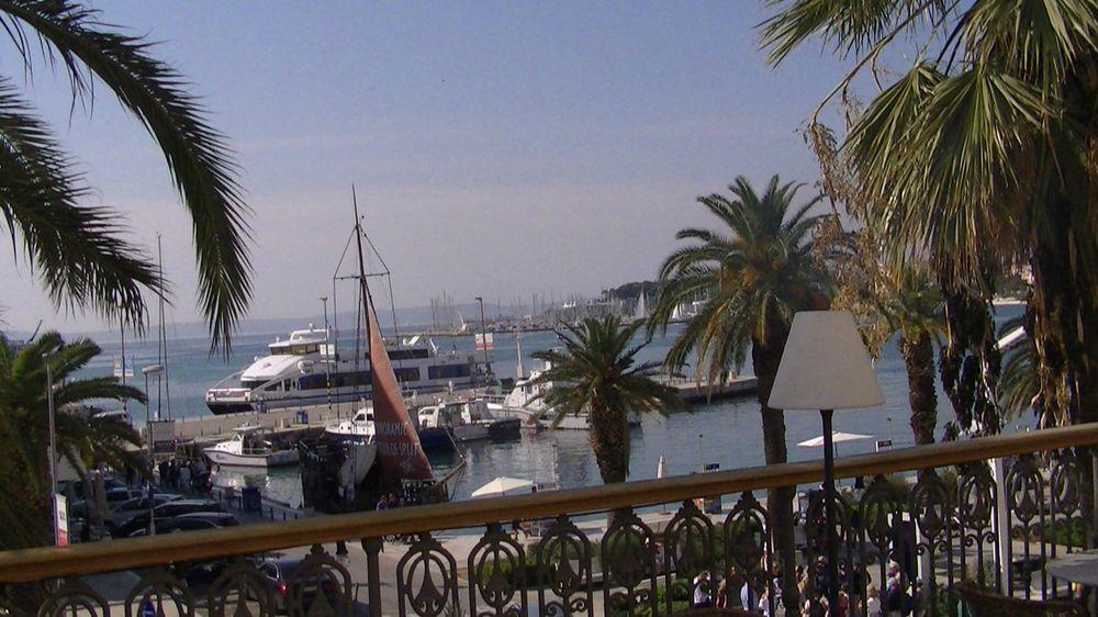 Split vue sur le port croatie