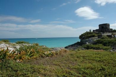 tulum ruine et mer caraibe
