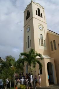sortie de l'église
