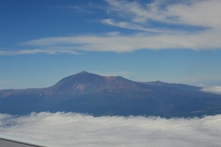 Vue d'avion : le Teide