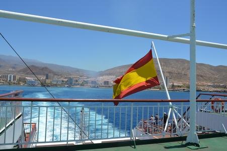 sur le ferry- au revoir Tenerife