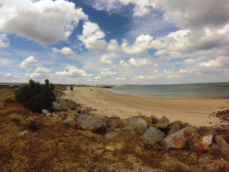 Cabanas plage au portugal