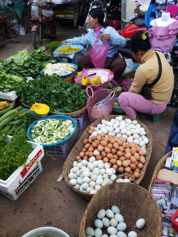 siem reap marche oeuf legume