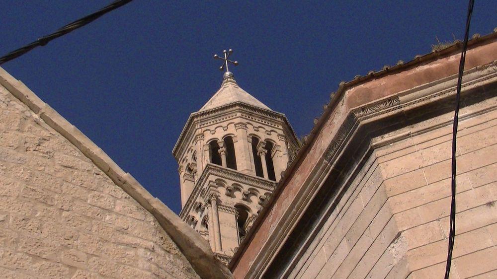 Split  et le haut Tour du Palais Dioclétien croatie