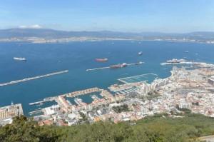 gibraltar vue sur port du rocher