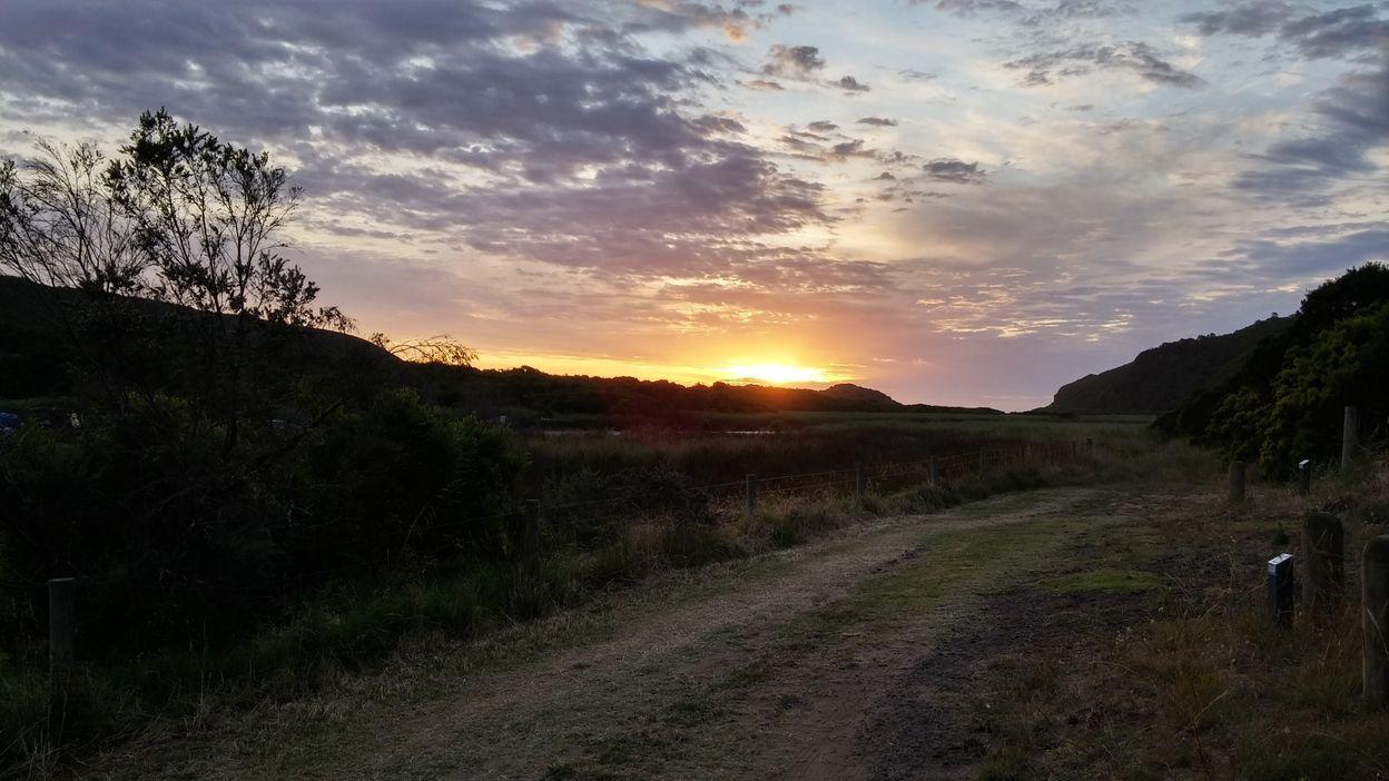 Aire river camp coucher soleil