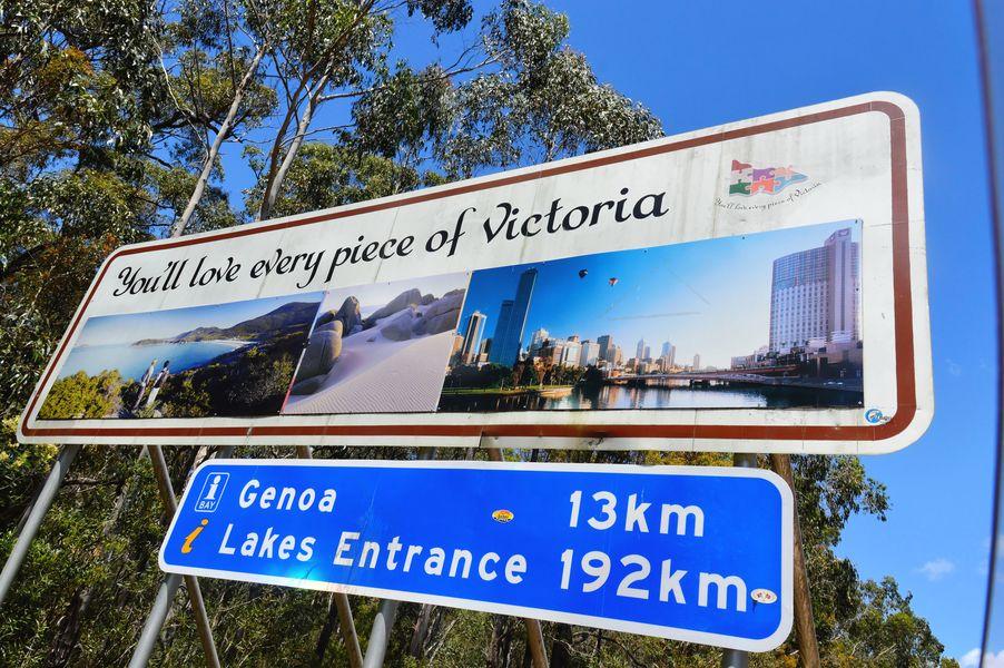 Entrée dans l'état de Victoria