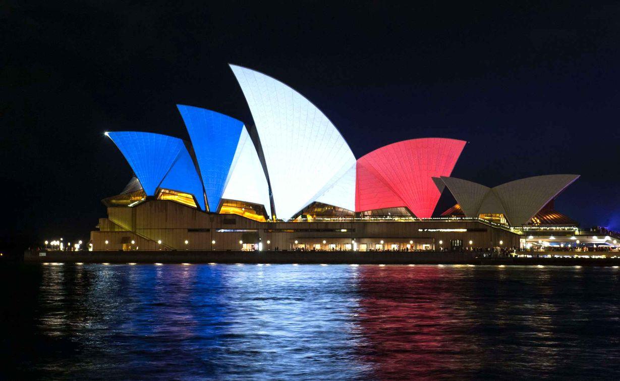 sydney opera bleu blanc rouge